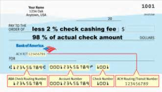 Check Routing Number Example