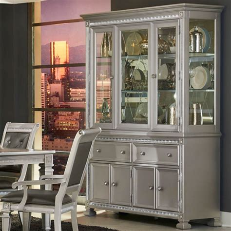 Homelegance 1958 Glam Dining Buffet And Hutch With Display