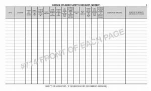 Oxygen Cylinder Safety Log Book 714 Log Books Unlimited