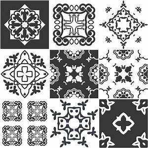 Stickers Carreaux De Ciment : 9 stickers carreaux de ciment ferrare salle de bain et ~ Melissatoandfro.com Idées de Décoration