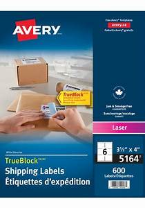 averyr 05164 shipping labels 3 1 3quot x 4quot rectangle white With 5164 shipping labels