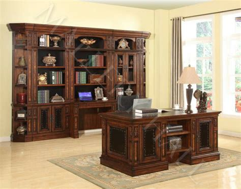Office Desk With Bookcase by Italian Chestnut Library Large Bookcase Wall With
