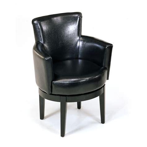 swivel club chair leather black