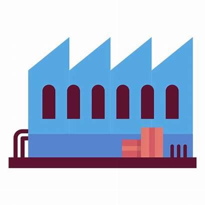 Factory Illustration Building Transparent Svg Vector Texture