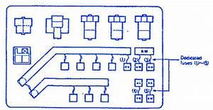 Eagle Summit 1994 Engine Compartment Fuse Box    Block Circuit Breaker Diagram