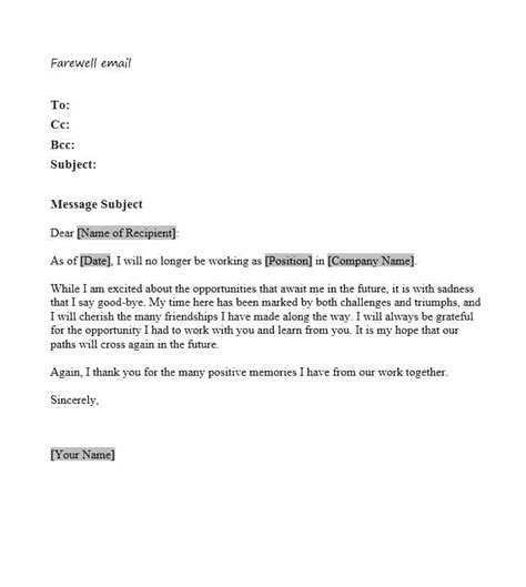 farewell letter to employees best of farewell letter to employees cover letter exles 21801