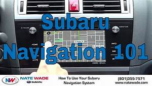 How To Use Your Subaru Navigation  2015