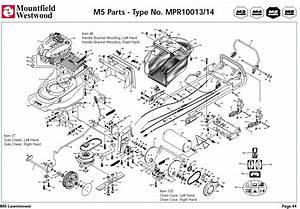 Mpr10013 Mpr10014 Mountfield M5 Pre 2002 Machine Diagram