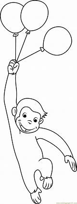 Curious George Coloring Balloons Pages Printable Coloringpages101 Coloringonly Cartoon Pdf sketch template