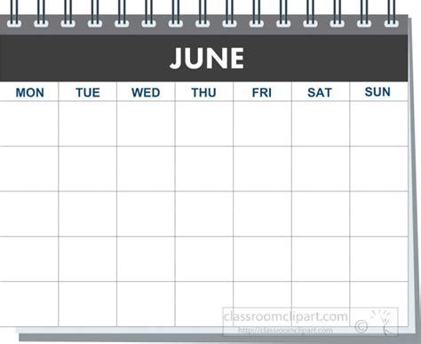 calendar clipart month spiral june calendar black white clipart classroom clipart