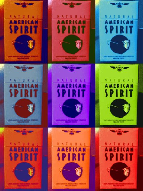 american spirits colors pop cigarette pack american spirit my mind