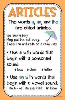 grammar anchor charts posters  creative teacher mama tpt