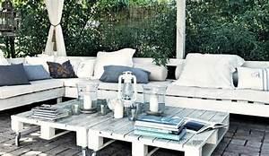 Salon De Jardin Palettes : palette en bois d co c t maison ~ Farleysfitness.com Idées de Décoration
