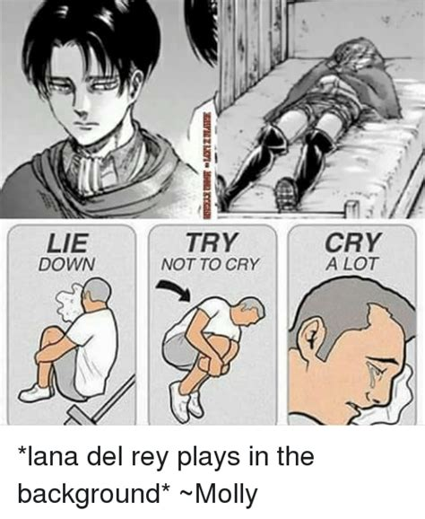 Try Not To Cry Meme - lie down try not to cry cry a lot lana del rey plays in the background molly lana del rey