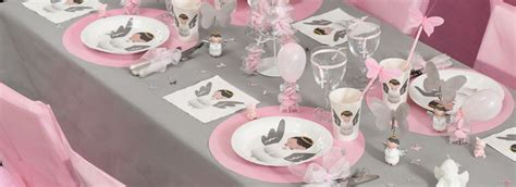 idee decoration table bapteme fille
