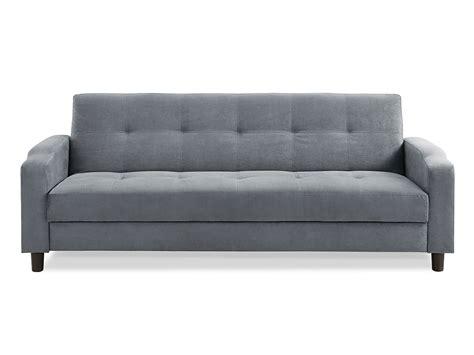 Reno Convertible Sofa Dark Grey By Serta Lifestyle