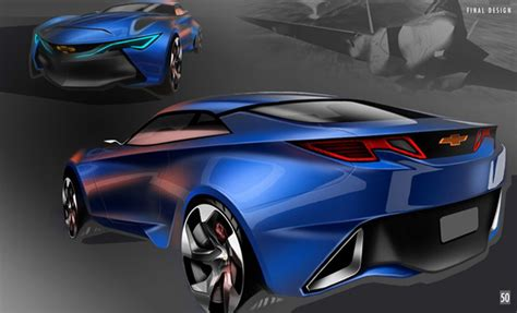 generation chevrolet camaro sketch rear forcegtcom