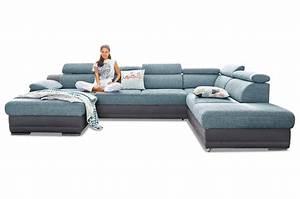 Ecksofa Billig Kaufen : wohnlandschaft blau sofas zum halben preis ~ Markanthonyermac.com Haus und Dekorationen
