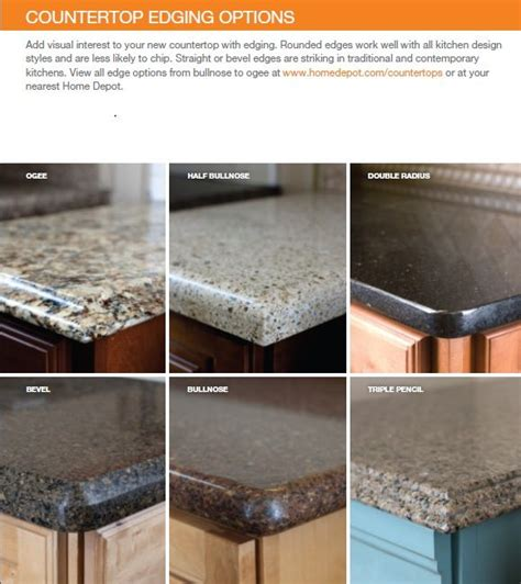 countertop edge options countertops kitchen design