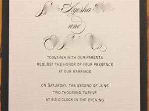 wedding invitation samples together with their parents With wedding invitation text together with their families