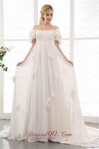 simple empire off the shoulder maternity wedding dress With simple maternity wedding dresses