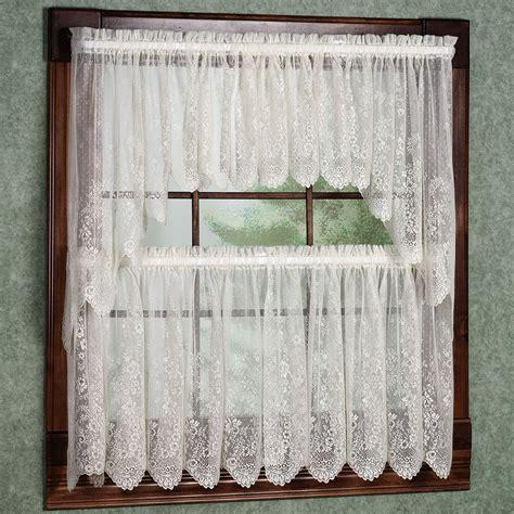 kitchen curtain ideas small windows dazzling white fabric tailored tier kitchen cafe curtain