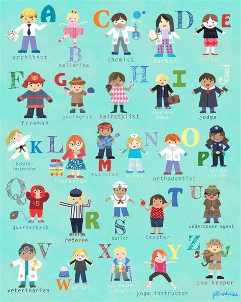 childrens alphabet posters images  pinterest