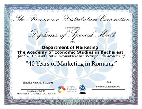 diploma of marketing comitetul al distributiei the 40th anniversary of