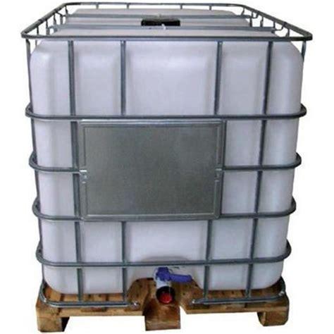 Cuve ibc, palette pe, 1000 l, ouverture dn 150, sortie dn 50, robinet à boisseaux avec joint viton. Cuve IBC 1000L - Achat / Vente collecteur eau - cuve Cuve IBC 1000L - Cdiscount