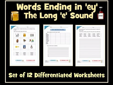 Words Ending In 'ey' Making The Long 'e' Sound (/i