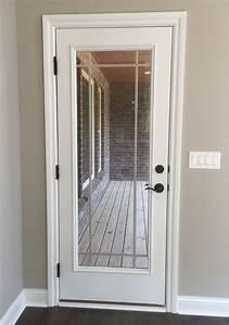Back Door With Prairie Window Grids