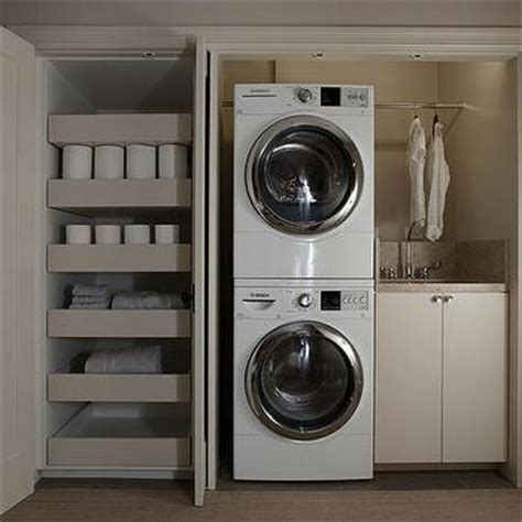 master closet with washer and dryer design decor