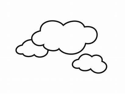 Cloud Outline Coloring Clipart Pages Clipartion