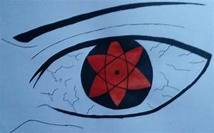 HOW TO DRAW EYES SASUKE'S MANGEKYOU SHARINGAN COLOR - YouTube
