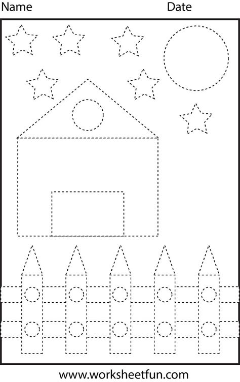 Shape Tracing  Preschool Worksheets  Pinterest  Different Shapes, Picket Fences And Quiet Books