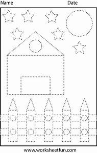 shape tracing preschool worksheets pinterest With traceable stencils of letters