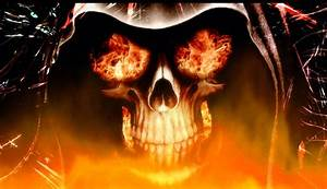 Download Fire Skull Animated Wallpaper | DesktopAnimated.com