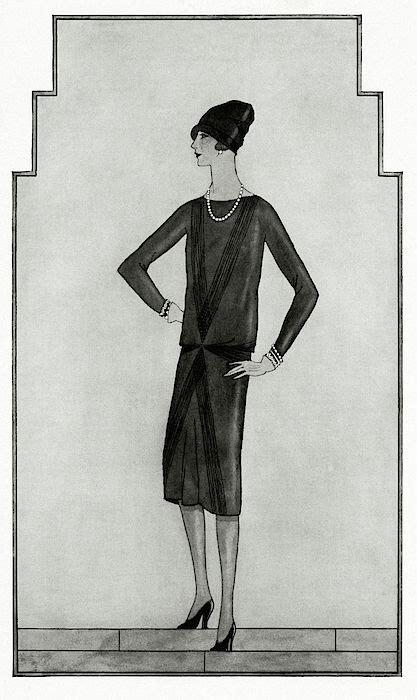 black dress  chanel artist bocher