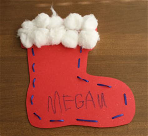 christmas stocking craft crafts for all network