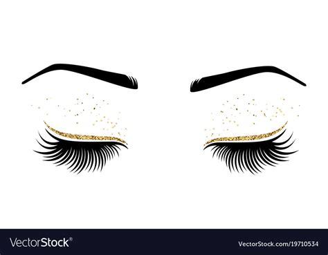 Brow logo microblading logo eyebrow logo permanent makeup   etsy. Eyes with long eyes lashes Royalty Free Vector Image