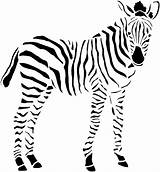 Zebra Coloring Pages Animals Cat Dog Striped sketch template