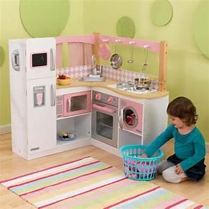 Cuisine Pour Petite Fille : grande cuisine d 39 angle pour enfant ~ Preciouscoupons.com Idées de Décoration