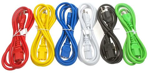 power cord awg 3c sjt jacket c14 to c13 15