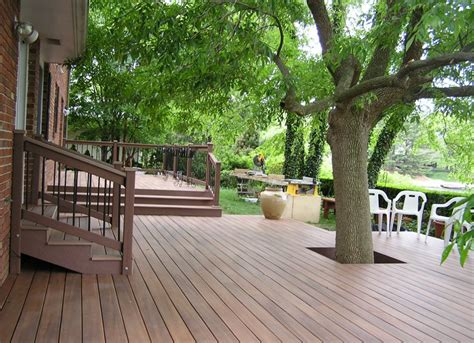 build around trees and large shrubs deck ideas 18