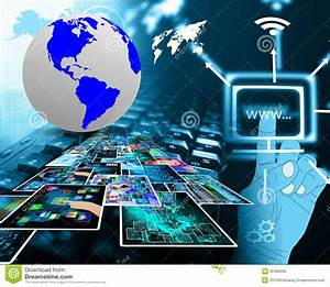High-tech Space Royalty Free Stock Image - Image: 32480206