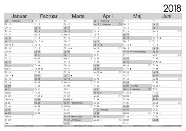 kalender  med uger calendars