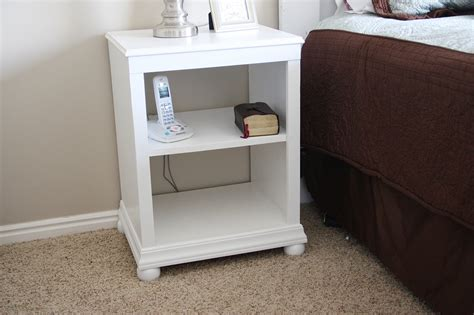 White Simple Nightstand by Nightstand Open Shelf White