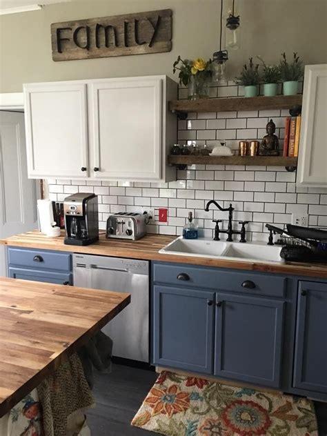 kitchengoals note blue  behr ultra premium  denim  satin home decor