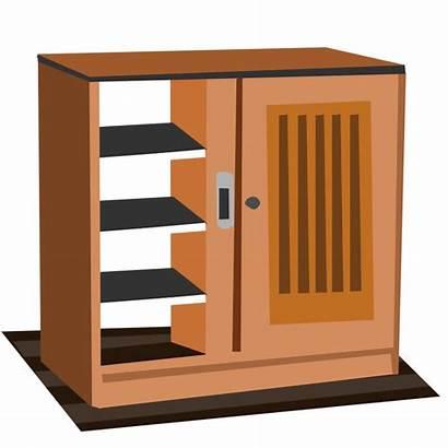 Clipart Cabinet Cupboard Clip Empty Shelf Pantry