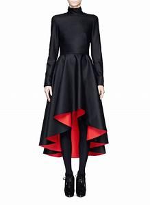 ALEXANDER MCQUEEN - Mandarin collar high-low dress - on ...